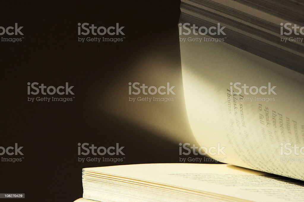 Book Page Turning Motion Blur stock photo