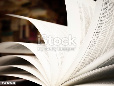 Open book pages. Text is