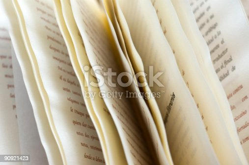 Close-up of book pages