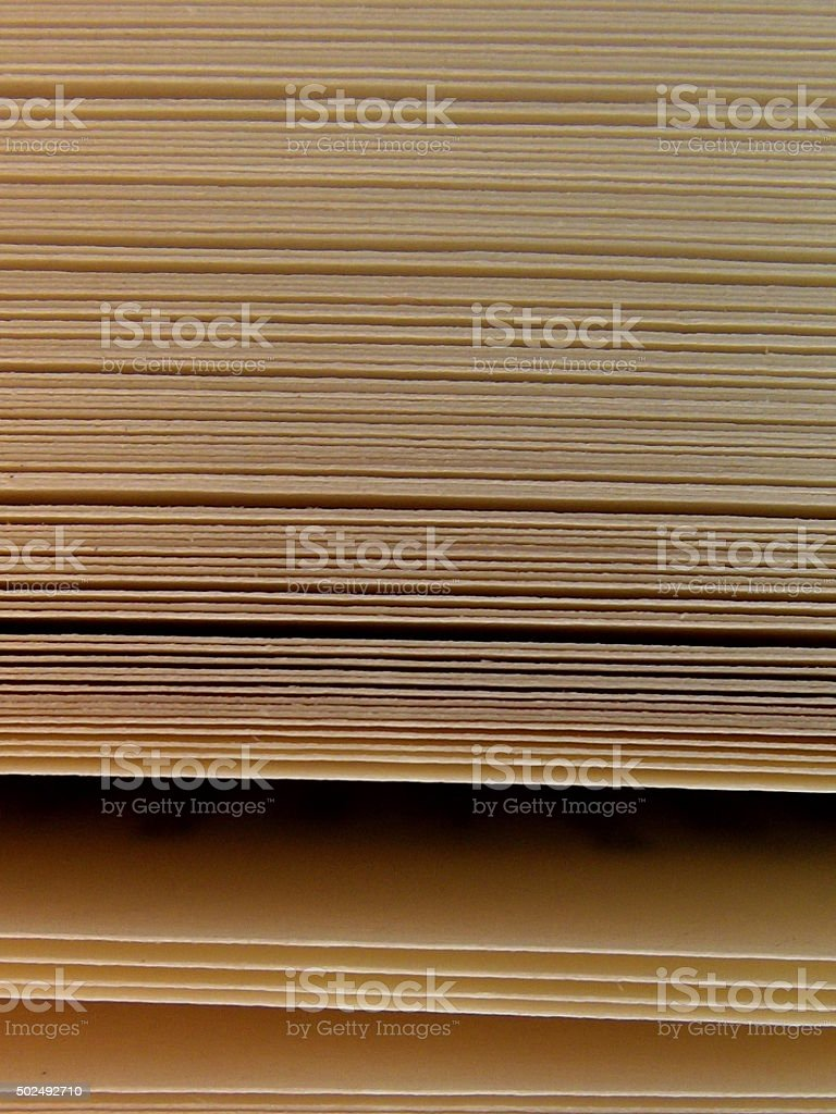 Book Pages Texture with Copy Space stock photo