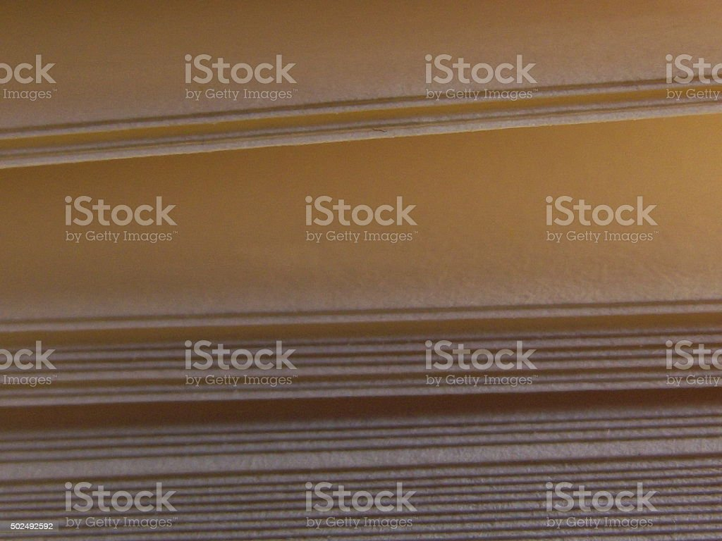 Book Pages with Open Paper Space stock photo