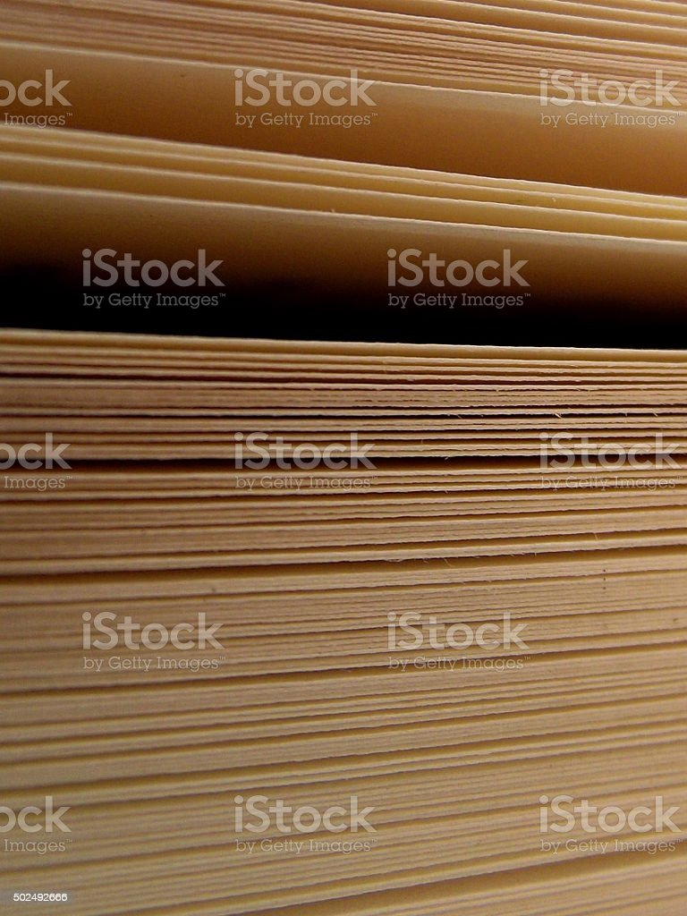 Book Pages with Openings Gaps stock photo