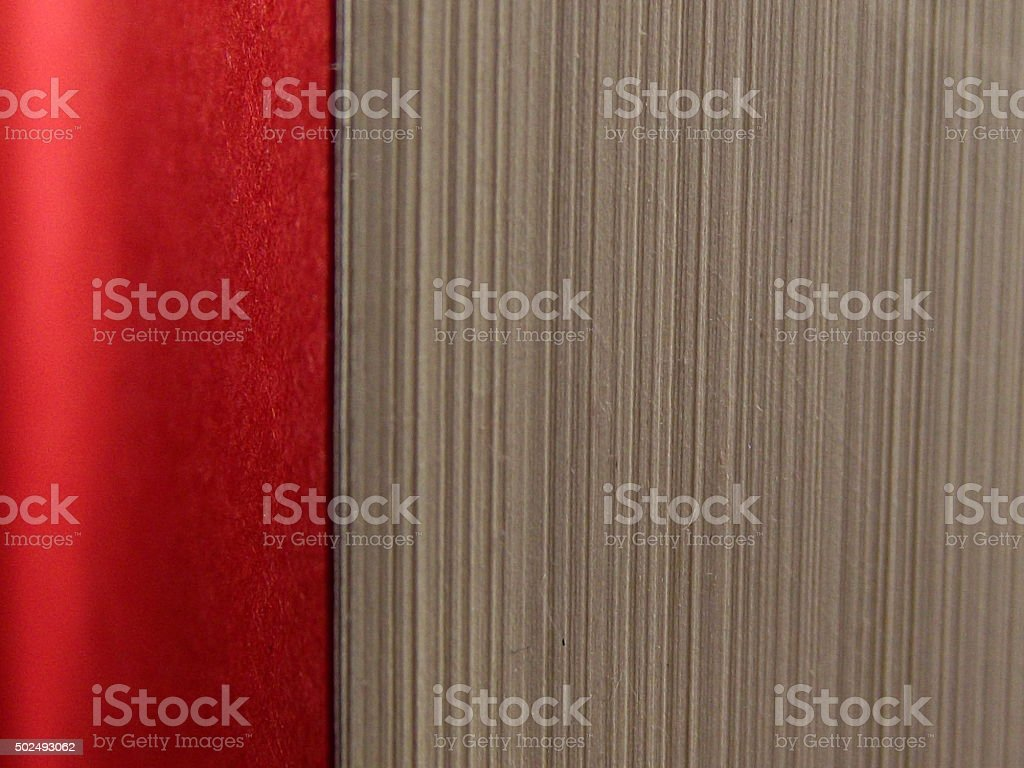 Book Pages with Red Page Trim stock photo