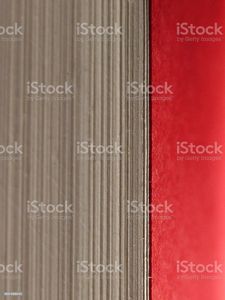 Book Pages with Red Paper stock photo