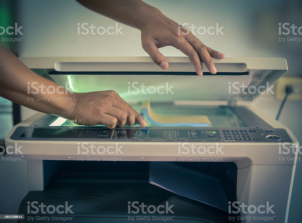 book photocopying stock photo