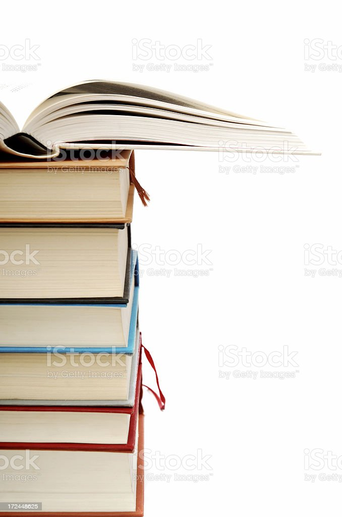 Book pile royalty-free stock photo