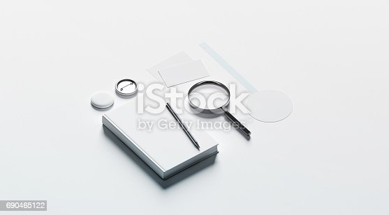 istock Book publishing office branding design mock up elements 690465122