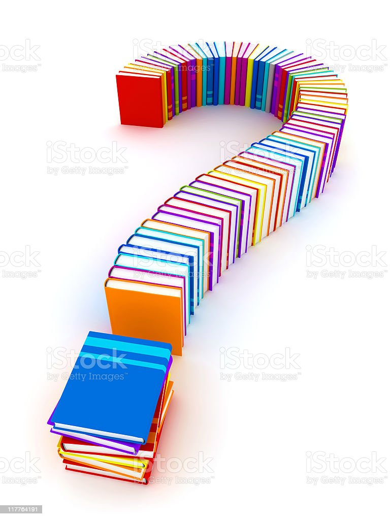 Book question stock photo
