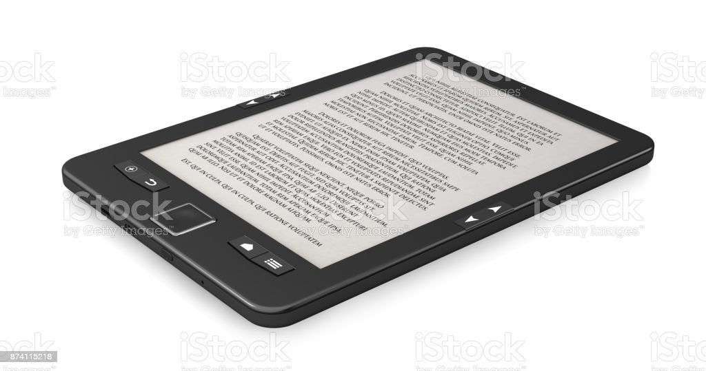 Book reader, stock photo