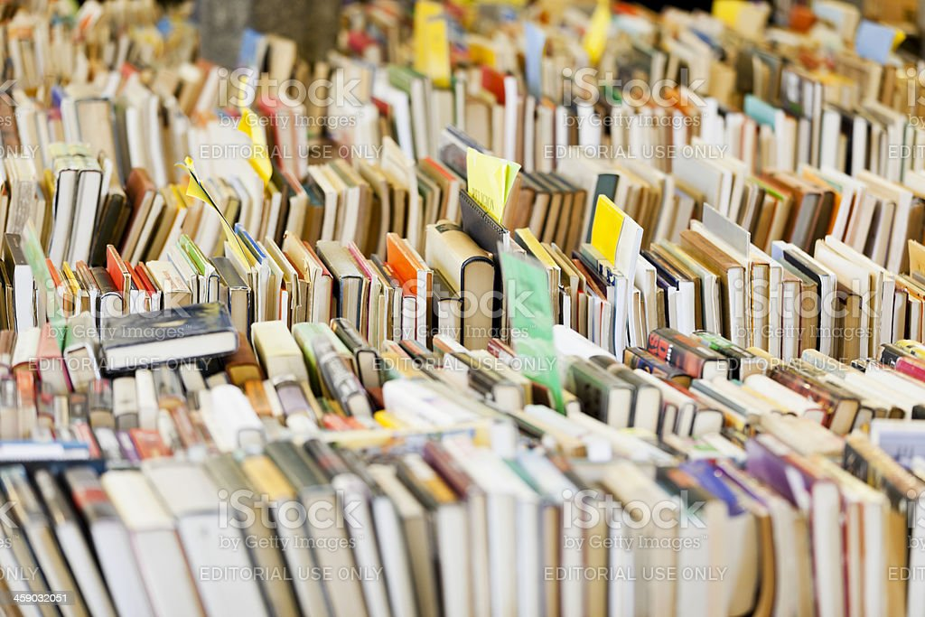 Book sale stock photo