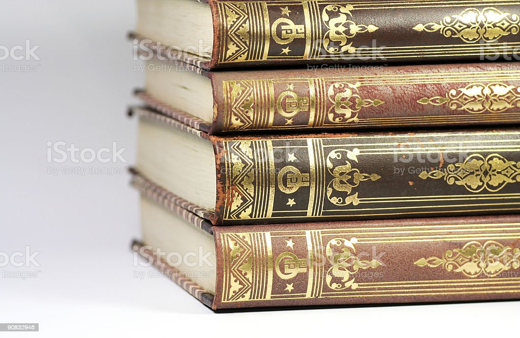 Book stack 2 stock photo
