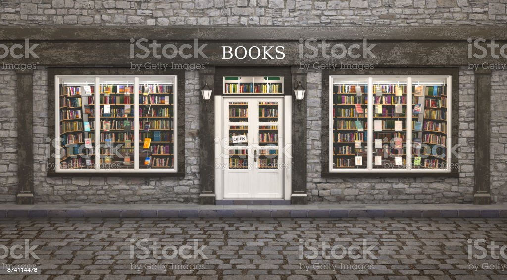 Book store exterior, stock photo