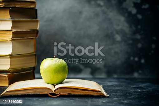 Book study educated. Library and dictionary background. Studying students at universities and colleges, schoolchildren at school and home distance learning concept.