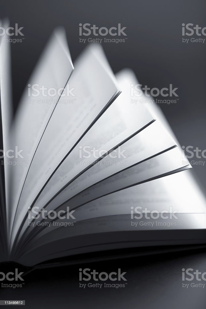 A book that has several of it's pages opened up  royalty-free stock photo
