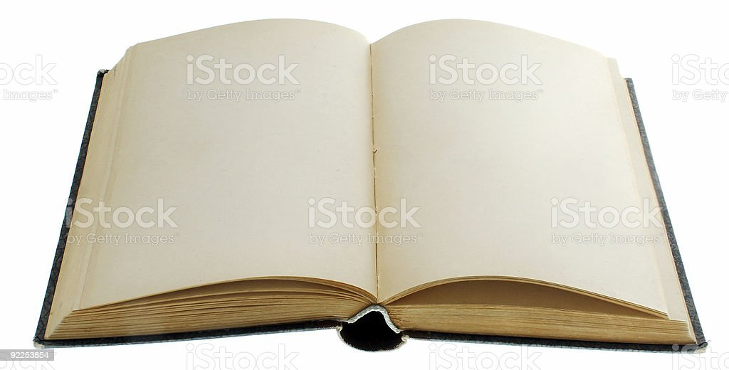 A book that is opened and blank royalty-free stock photo