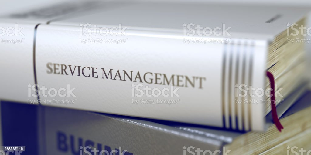 Book Title of Service Management. 3D royalty-free stock photo
