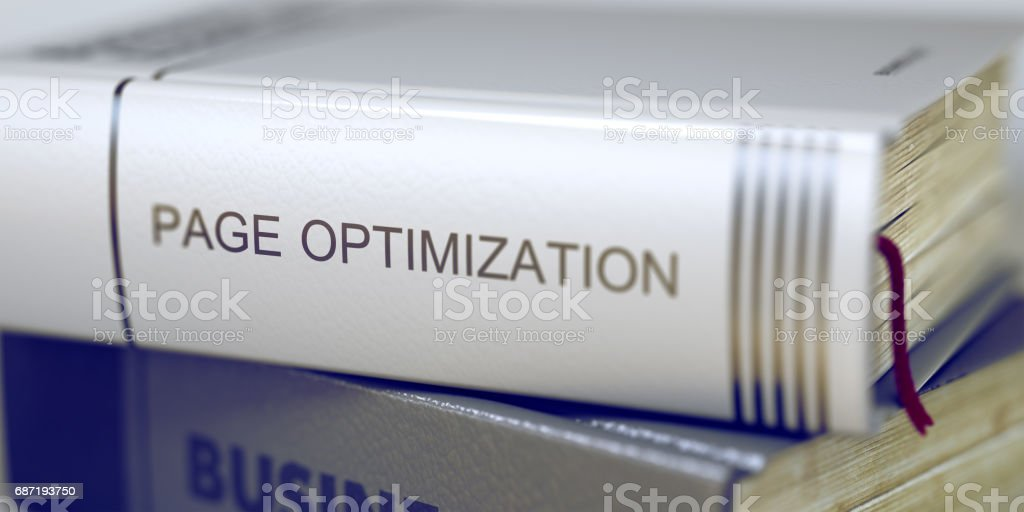 Book Title on the Spine - Page Optimization. 3D stock photo