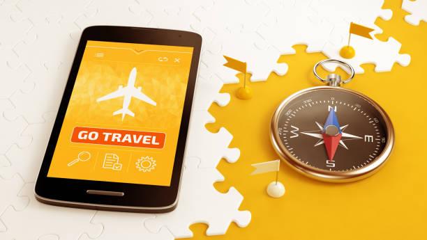 Book Travel Via Mobile stock photo