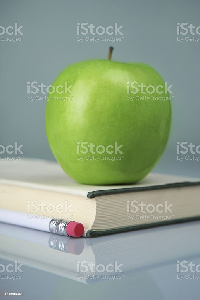 book with apple royalty-free stock photo