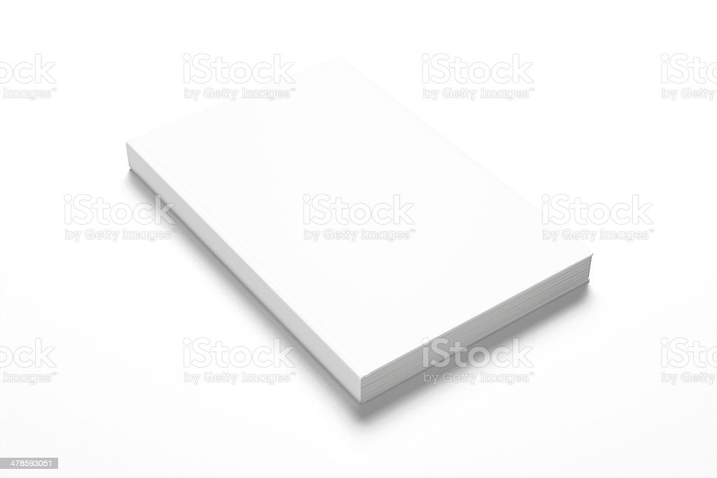 Book with blank cover on white background stock photo