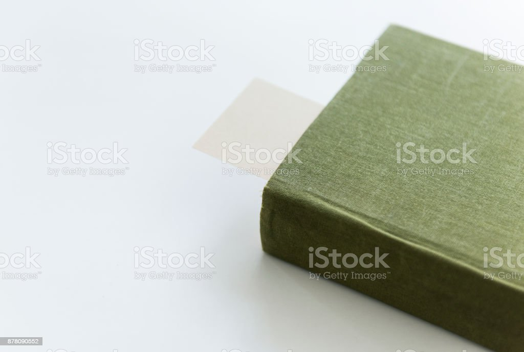 A book with bookmark stock photo