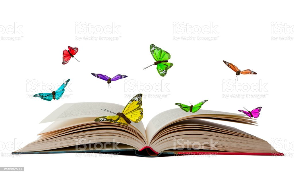 Book with Butterflies stock photo