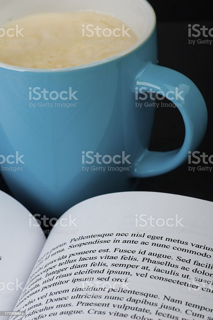 Book with coffee royalty-free stock photo