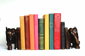 istock book with elephant bookends 172788987