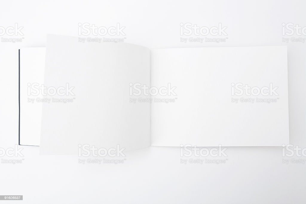 Book with Empty Pages stock photo