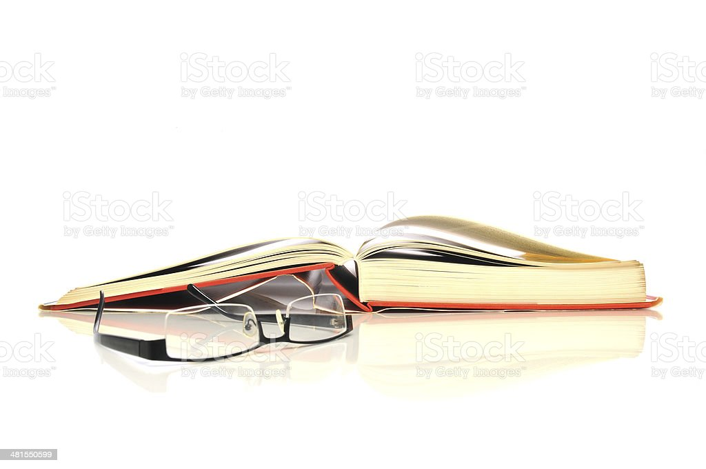 Book with glasses royalty-free stock photo