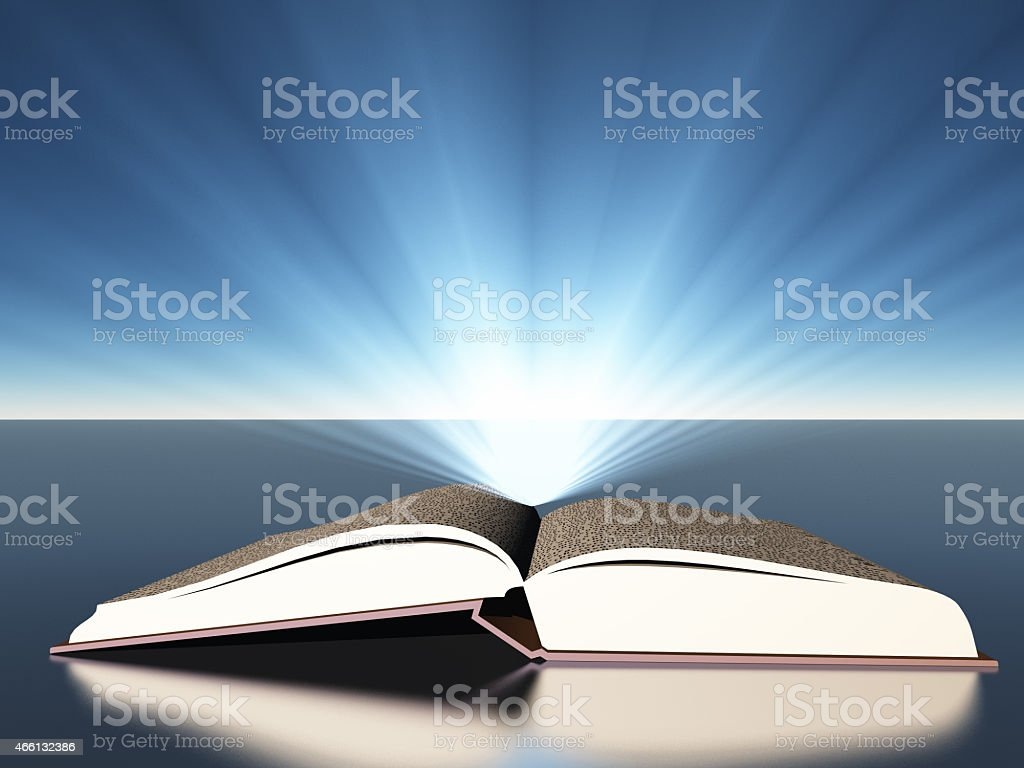 Book with light stock photo