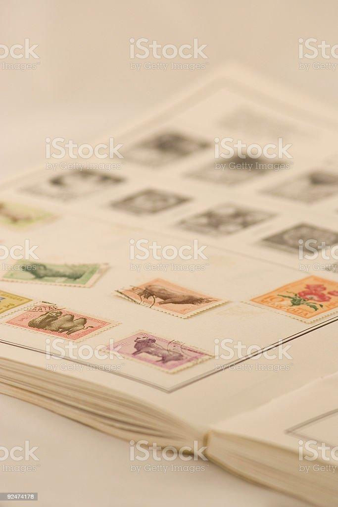 Buchen Sie mit mongolischem Stempel-Kollektion Lizenzfreies stock-foto