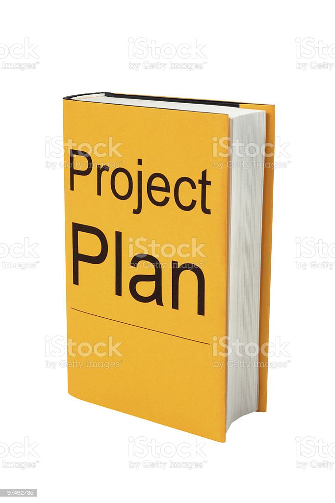 Book with Project Plan on Cover. royalty-free stock photo