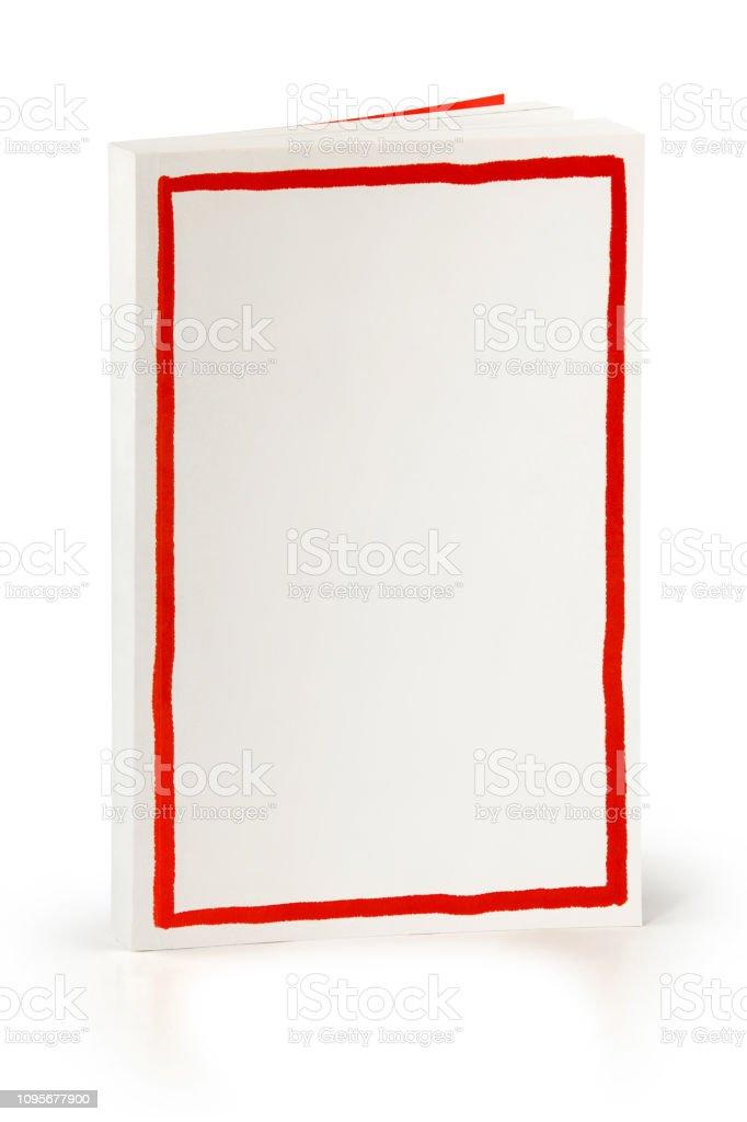 Buch mit rotem Rahmen - Clipping-Pfad – Foto
