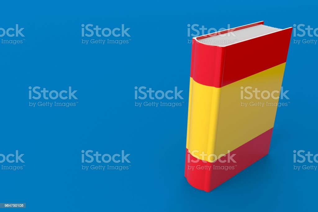 Book with spanish flag royalty-free stock photo