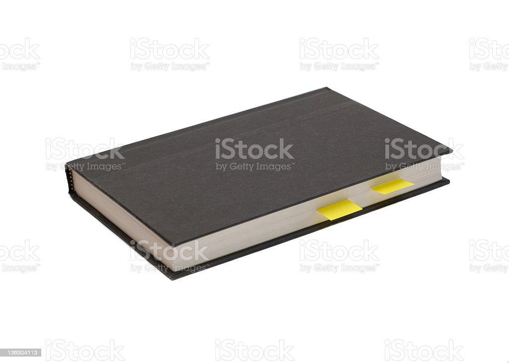 Book with tabs royalty-free stock photo
