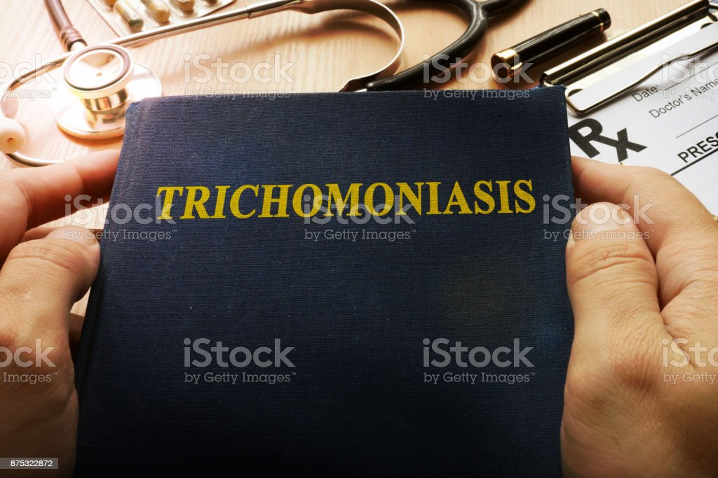 Book with title Trichomoniasis in a hospital. stock photo