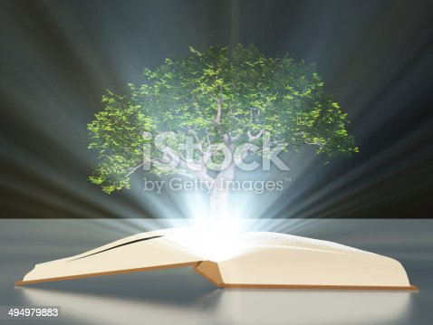 istock Book with tree 494979883