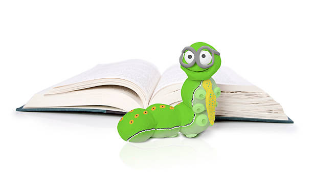 Book Worm stock photo
