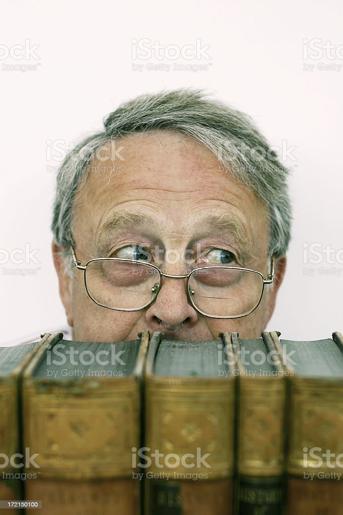 Book Worm royalty-free stock photo