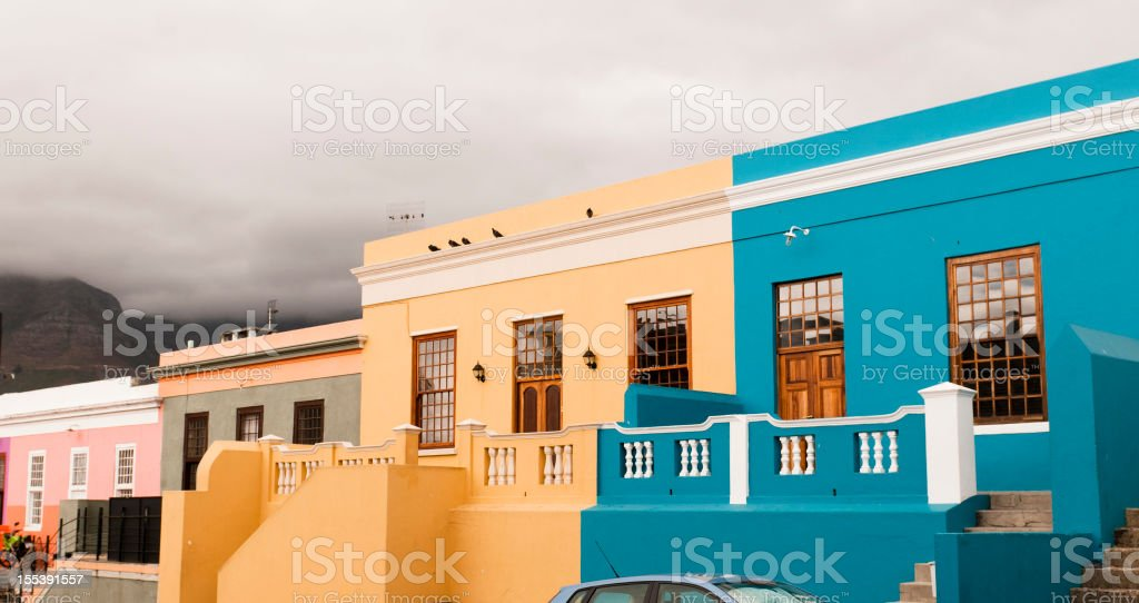 Boo-Kaap homes in Cape Town stock photo