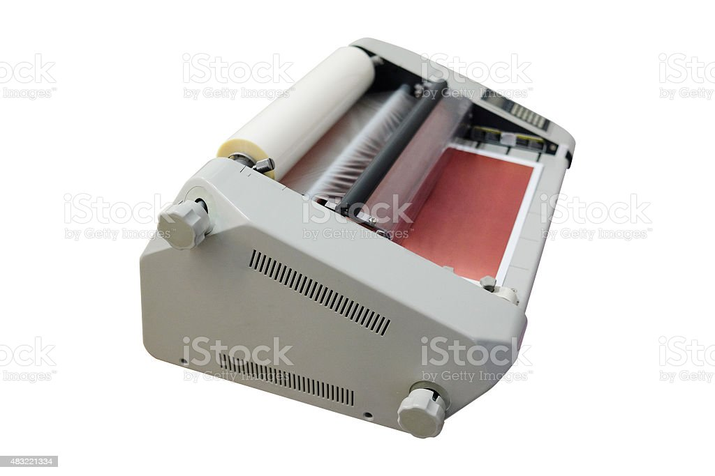 bookbinding machine stock photo