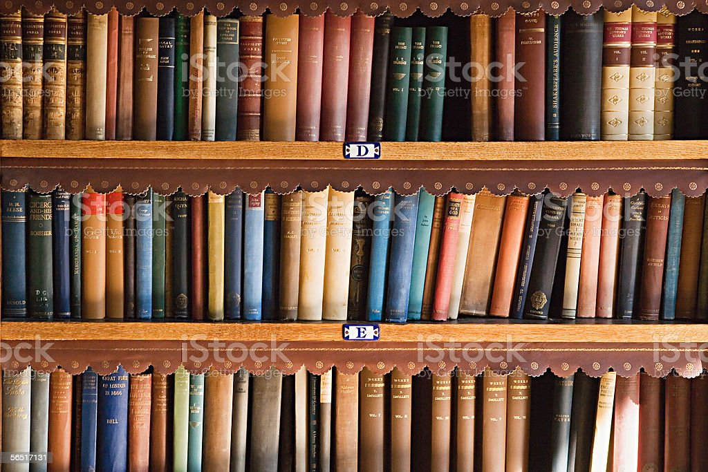 Bookcase royalty free stock photo Bookcase stock photo