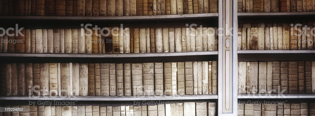 Bookcase with Antique Books royalty-free stock photo