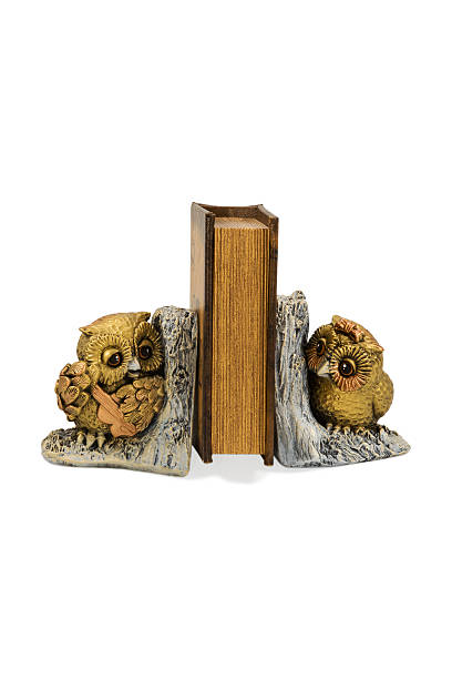 Bookend in the form of two owls stock photo