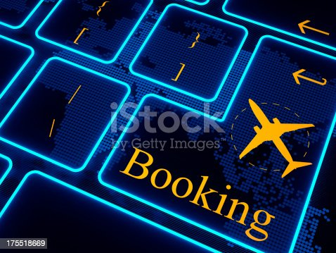 174936437 istock photo Booking button virtual keyboard 175518669