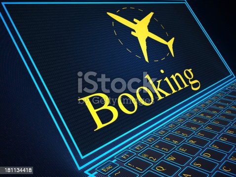 174936437 istock photo Booking button virtual keyboard 181134418