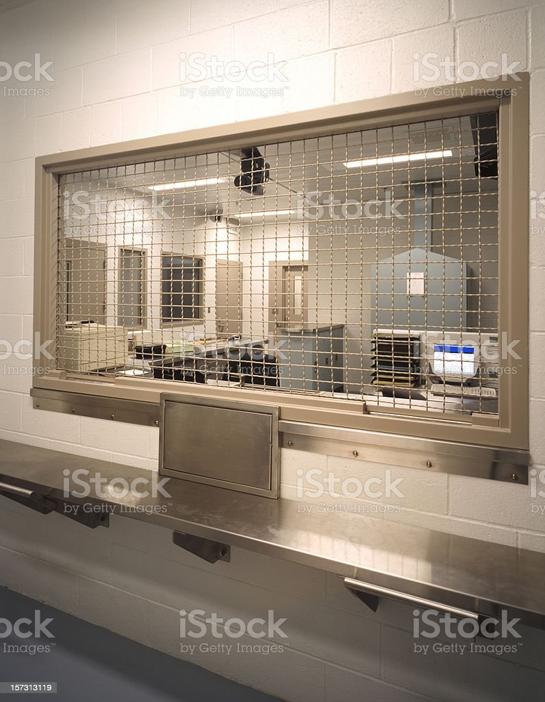 Booking desk, county jail royalty-free stock photo