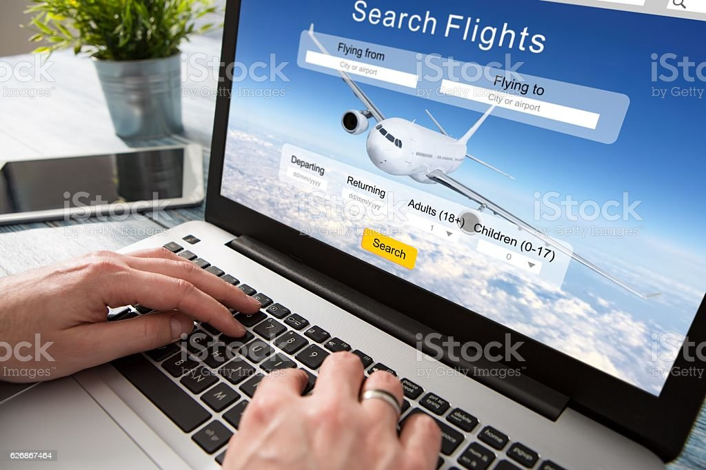 booking flight travel traveler search reservation holiday page - Photo