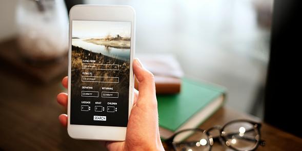 istock Booking Flight Travel Website Concept 672833164